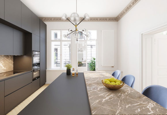 Refurbished apartment in an old building4 rooms